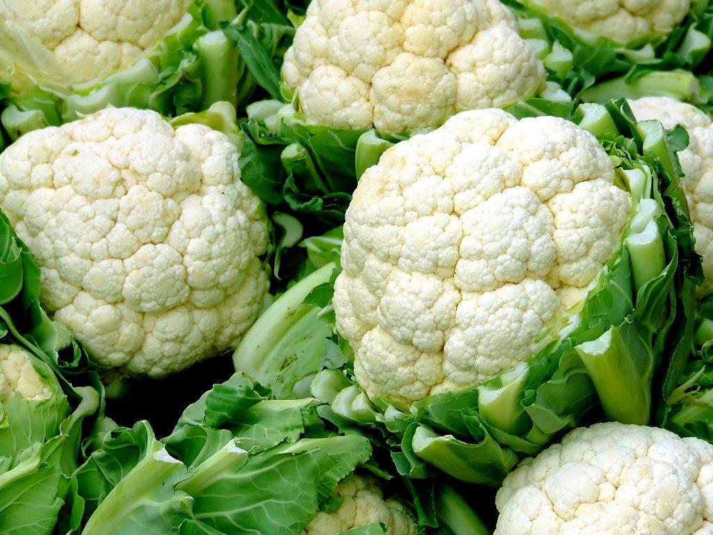 la informacion nutricional de la coliflor
